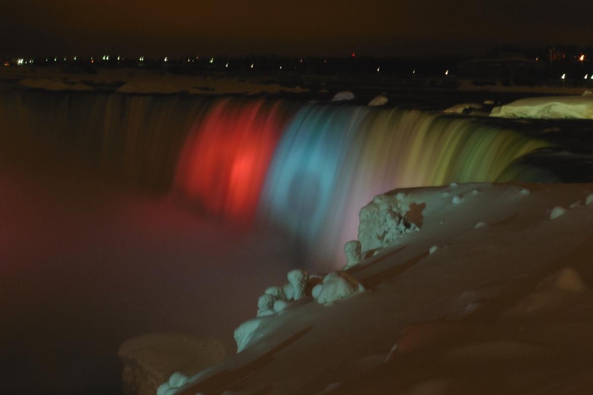 chutes Niagara de nuit