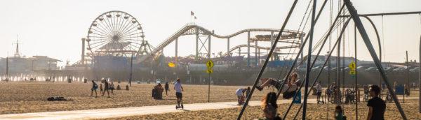 Plage de Santa Monica à Los Angeles en Californie