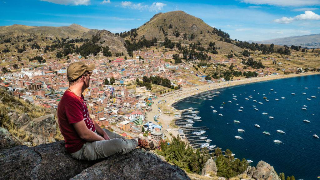 Moi au sommet du cerro Calvario