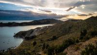 Coucher de soleil à l'isla del sol Pérou