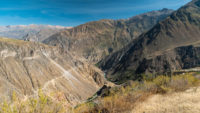 Vue d'ensemble canyon de Colca