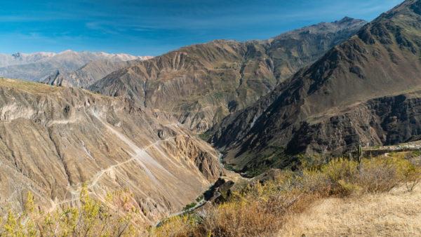 Vue d'ensemble canyon de Colca