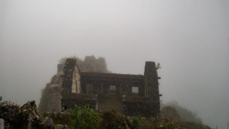 Machu Picchu dans le brouillard