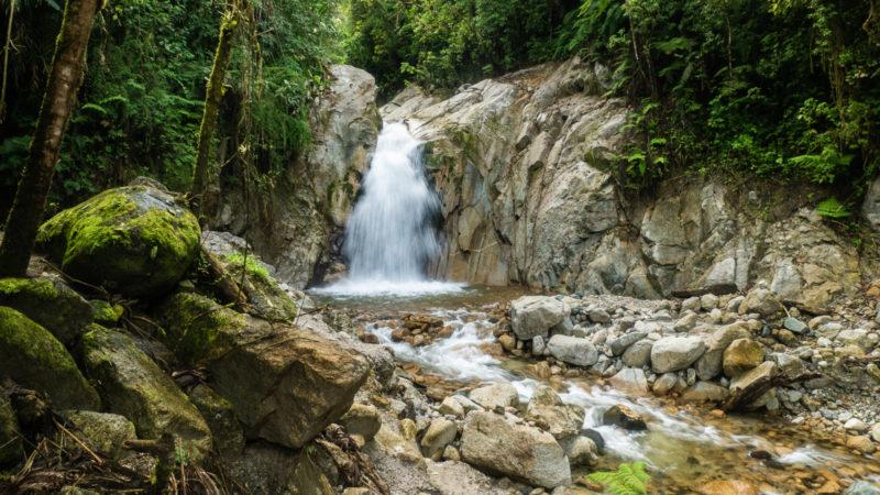 Cascade jardin botanique Machu Picchu