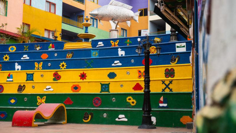 Escalier Guatape Colombie