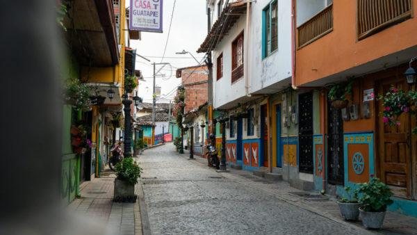 Rue de Guatape Colombie