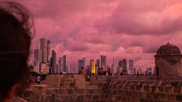 Coucher de soleil Carthagène Colombie