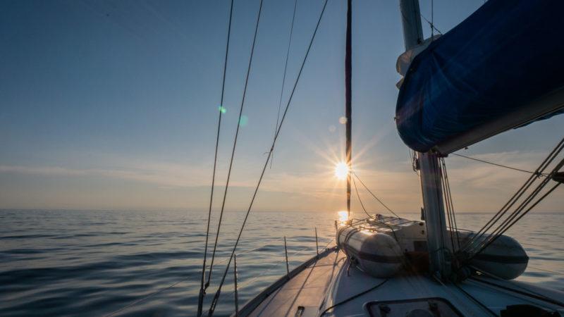 Vue du bateau dans les caraibes Panama