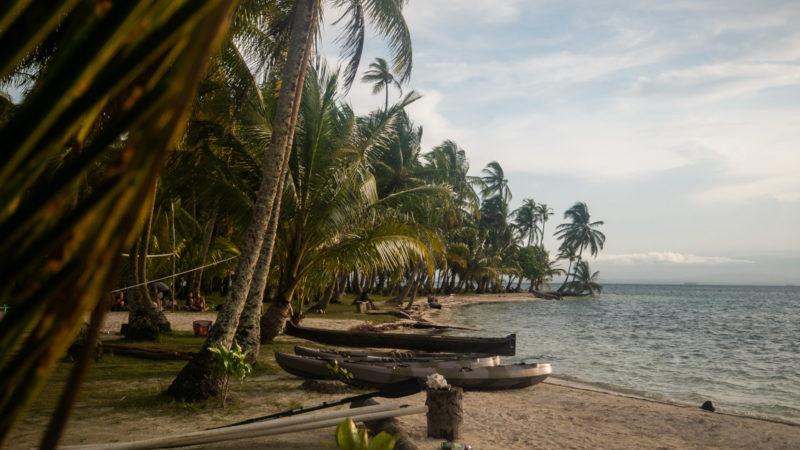 Bord de plage ile San Blas
