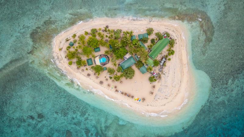 South sea Island vu du dessus Fidji